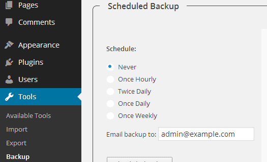 افزونه WP-DB-Backup