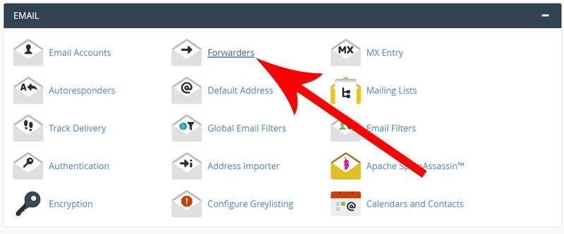 انتقال یک آدرس ایمیل به آدرس ایمیل دیگر در سی پنل