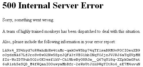 خطای 500 Internal Server Error
