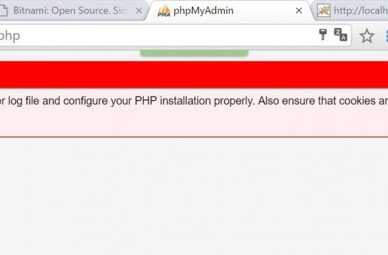 رفع خطا در phpmyadmin
