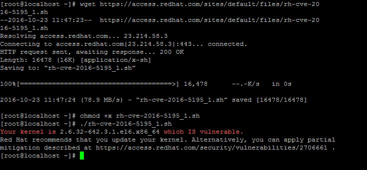 رفع مشکل امنیتی لینوکس 0day linux dirty cow