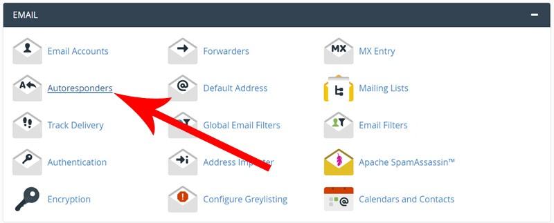 پاسخگویی خودکار به ایمیل ها در سی پنل