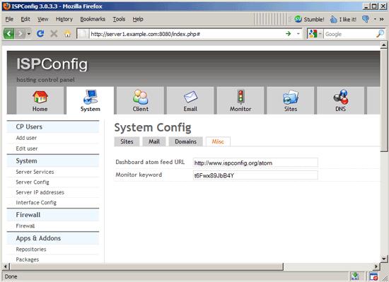 کنترل پنل ISPconfig