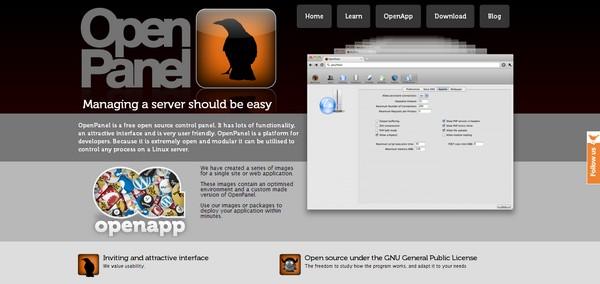 کنترل پنل OpenPanel